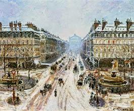 """Photo: Camille Pissarro, """"La strada dell'Opera - effetto neve"""" (1898)"""