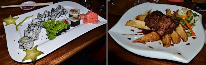 Photo: Wohl letzter Besuch in der Karibik - zum Einklang: Sushi vs. Tenderloin in Teriyaki Sauce, als Alternative zu Reise und Bohnen