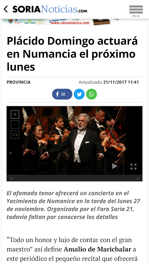 Soria Noticias - Diario Digital- screenshot