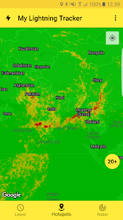 My Lightning Tracker Pro - Live Thunderstorm Map Screenshot