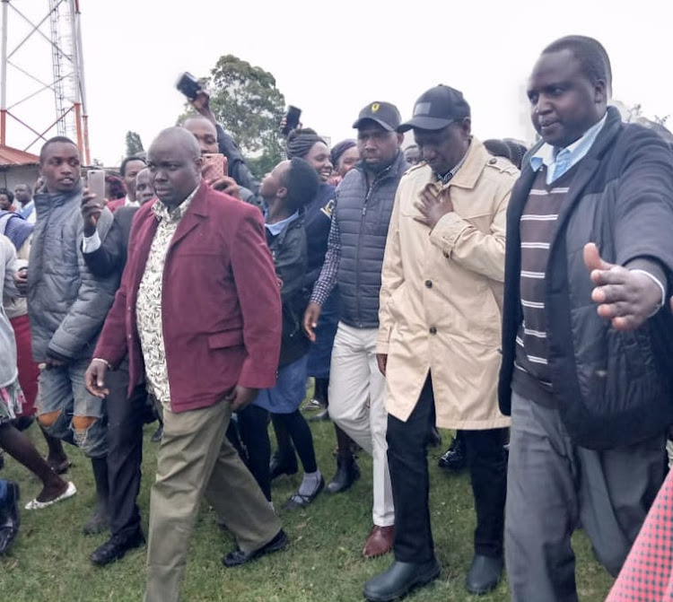 Deputy President William Ruto arrives in West Pokot on Monday, November 25 to condole with landslide victims.