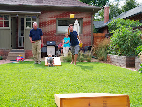 Photo: We also had a great chance to catch up with David and Adrianna - who we'd not seen in years! Their little boy, Max (crawling on the bag toss) hadn't even been born the last time we'd seen them! It was a beautiful time. Thanks for having us!