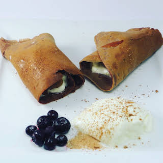 Desiigner's Chocolate Crepes with Yogurt And Blueberries.