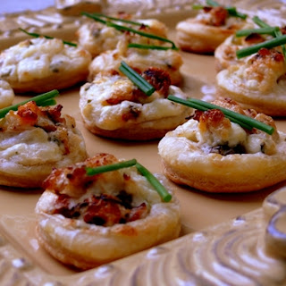 Crab and Chive Puffs.