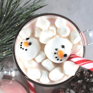 Candy Cane Hot Chocolate.