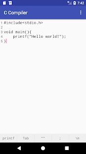 C Compiler - náhled