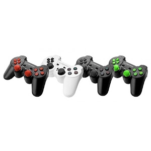 Set 2 x Controller Esperanza EGG107W Trooper cu vibratii, PC/PS3, Alb