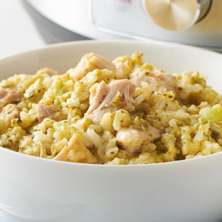 5-Ingredient Instant Pot™ Cheesy Chicken, Broccoli and Rice Recipe