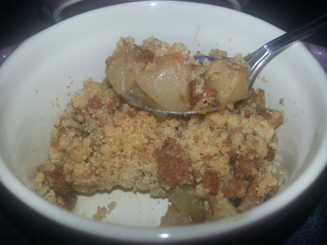 Speculoos Cookie and Apple Crumble Recipe
