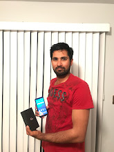 Photo: Sunday giveaway winner Nav Chahal showing off his new LG G6.