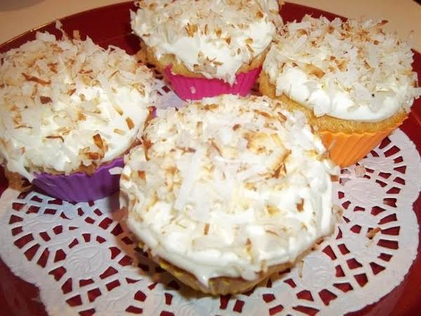 ~ Coconut Cupcakes & Luscious Frosting ~ Yum