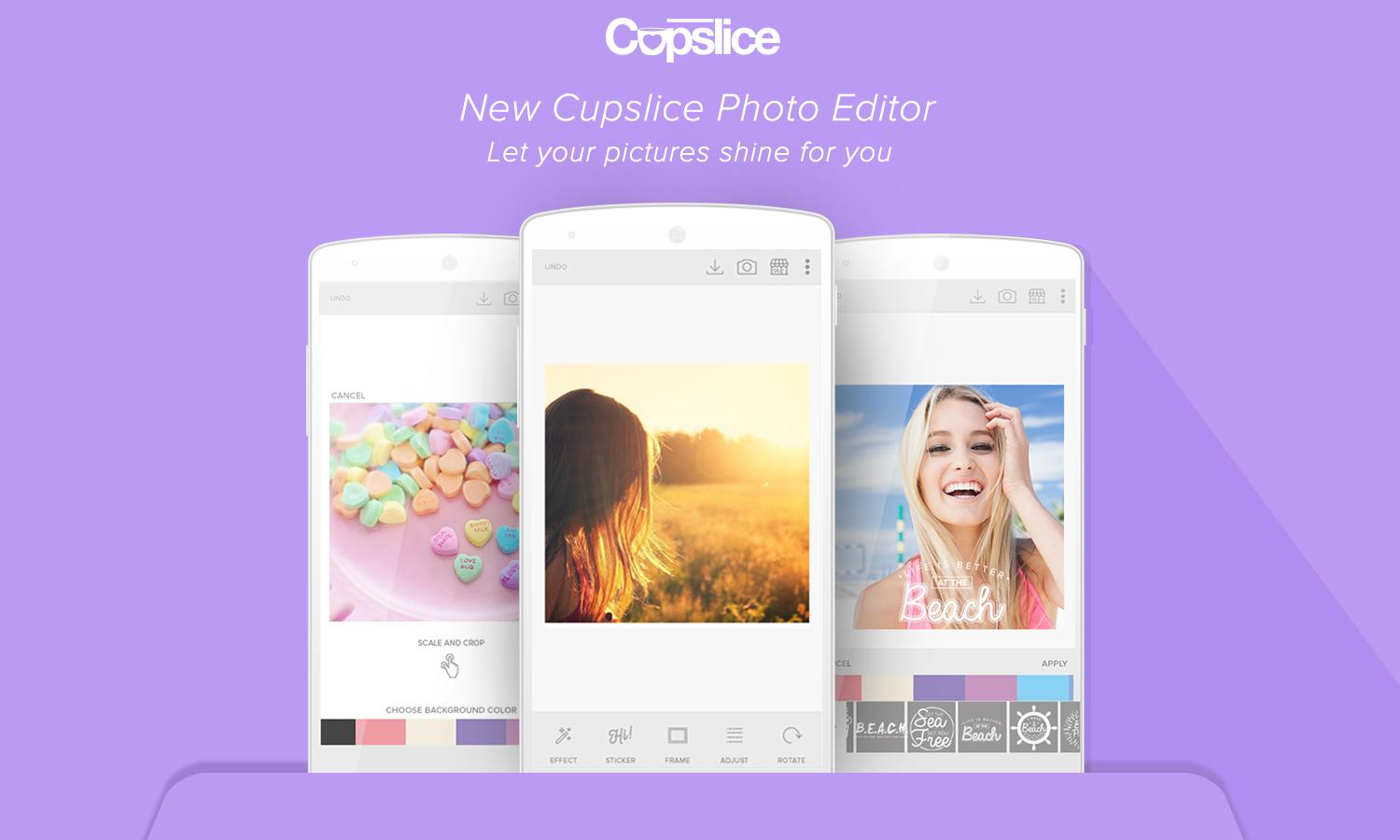 Cupslice Photo Editor- screenshot