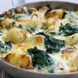 Potato, Spinach And Cheddar Frittata