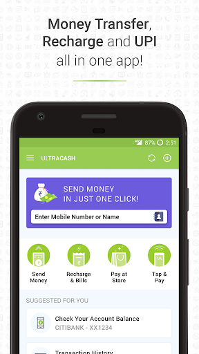 Money Transfer India, BHIM UPI app, Recharge & Pay by UltraCash