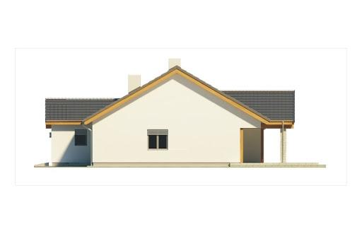 Ambrozja wersja A parterowa z pojedynczym garażem - Elewacja prawa