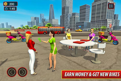 Moto Bike Pizza Delivery u2013 Girl Food Game Apk 2