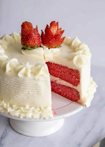 Fresh Strawberry Cake With Cream Cheese Icing - Southern Plate