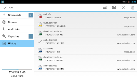 Ponydroid Download Manager Screenshot