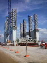 Photo: FCC atuando na obra do porto do Açu - Maio 2104
