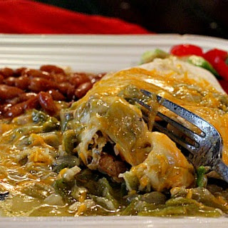 Breakfast Burrito with Green Chile Sauce