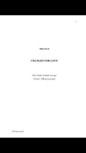 Novel Changes For Love