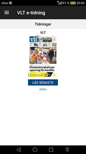 VLT e-tidning  screenshots 1