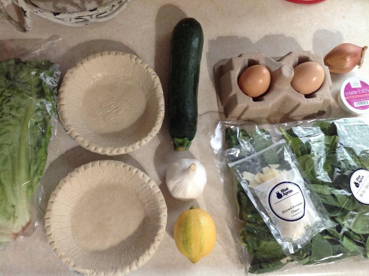 Blue apron zucchini salad - 2 Farm Eggs