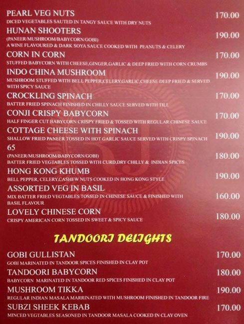 Rajesh Thindi Manae menu 2