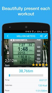 Million Meters: Rowing Logbook- screenshot thumbnail