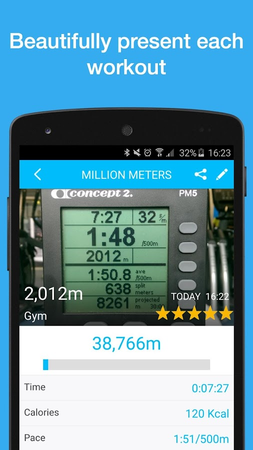 Million Meters: Rowing Logbook- screenshot