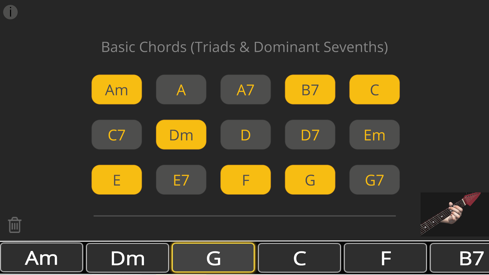 Basic Guitar Chords 3D- screenshot