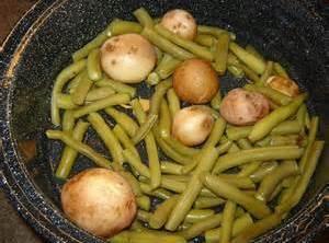 Fresh Green Beans W/ Fresh Irish Potatoes Recipe