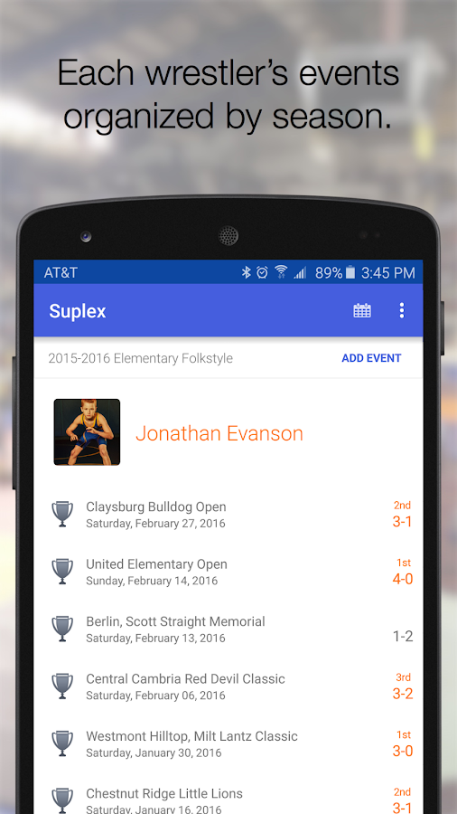 Suplex - Wrestling Journal- screenshot