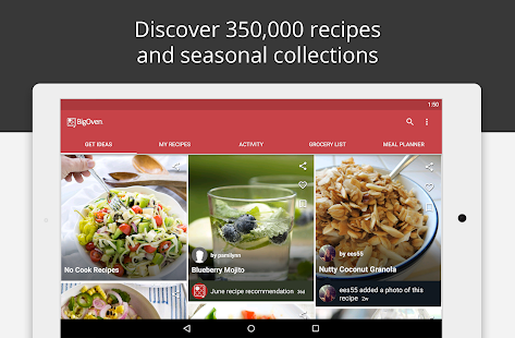BigOven Recipes, Meal Planner, Grocery List & More Screenshot