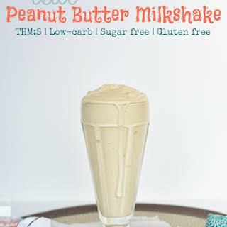 REAL Peanut Butter Milkshake.