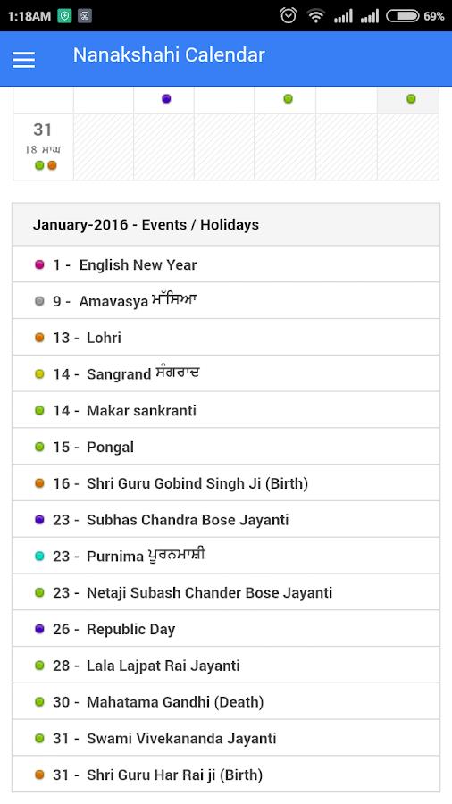 Nanakshahi Calendar 2016 - Android Apps on Google Play