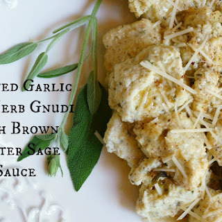 Roasted Garlic and Herb Gnudi with Brown Butter Sage Sauce