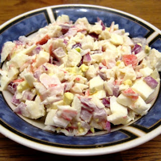 Crab Salad Recipe With Imitation Crab Or Canned Crab Meat