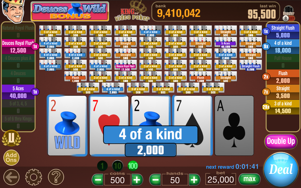 100 hand poker machine