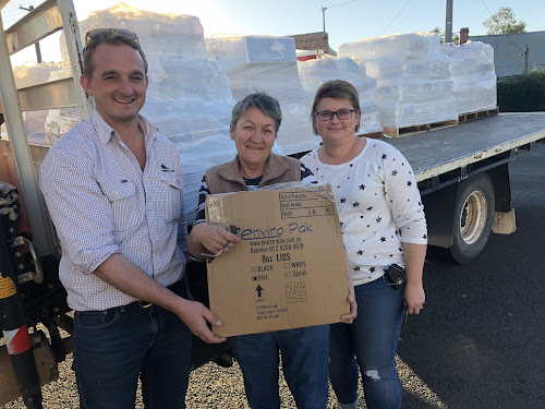 Kenway and Clark operations manager Sam Collier, Wee Waa Newsagency owner Roxanne Whitton and Wee Waa Hot Bread co-owner Carlie Gray.
