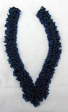 Photo: Dark blue necklace. no clasp