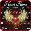 Red Heart Flame Keyboard icon