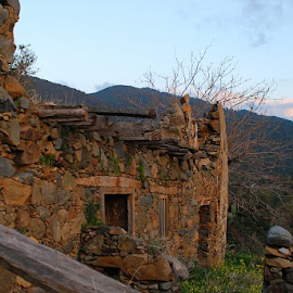 by Pixie Simona - Buildings & Architecture Decaying & Abandoned ( sunset, stone house, stone, stones, golden hour, abandoned, decay,  )