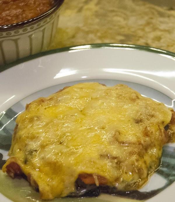 Double Mushroom Cheesy Baked Portobello Recipe
