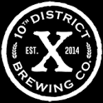 Logo for 10th District Brewing Company
