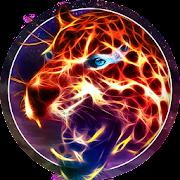 Neon Wild Animal Theme: Flaming Cheetah
