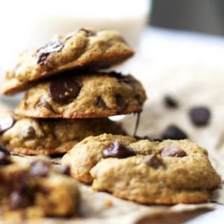 The BEST Healthy Peanut Butter Chocolate Chip Cookies.