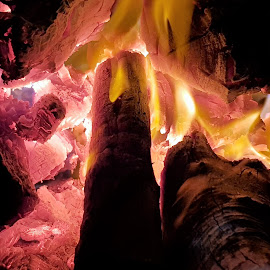 In the heat of the moment by Salome Muller - Abstract Fire & Fireworks ( heat, orange, barbecue, camping, braai, firewood, yellow, fire, wood, hot, fireplace )