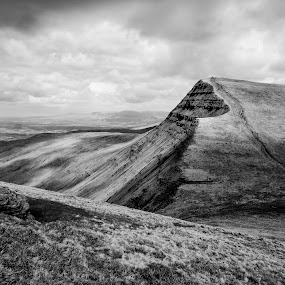 Cribyn, Wales by Sam W - Landscapes Mountains & Hills ( mountain, brecon beacons, pen y fan, black and white, wales, landscape )