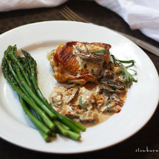 Braised Chicken with Morel Cream Sauce